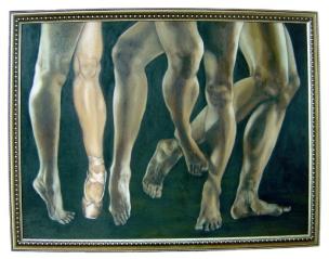 Paa, paa! Saan ka pupunta? 40 x 30 inches Oil on canvas 2005