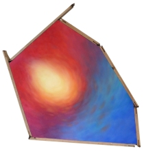 """""""Light"""" 2011 Oil on canvas with recycled wood Dimensions (inches) Width: 28 Height: 35 Depth: 4 (Private collection - Manila, Philippines)"""