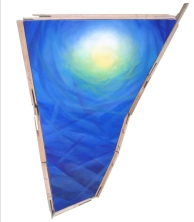 """""""Finding silence"""" 2011 Oil on canvas with recycled wood Dimensions (inches) Width: 18 Height: 24.5 Depth: 5 (Private collection - Tasmania, Australia)"""