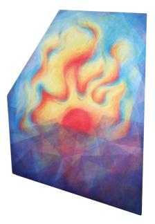 Dearest sunlight, shine in my heart's deep shrine. 2015 Acrylic on canvas 27 x 18 inches